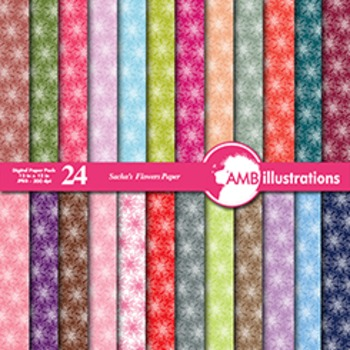 Digital Papers - Floral digital Paper and Backgrounds, Flower, AMB-426