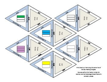 24 self-checking fractions flashcards - identification, pe