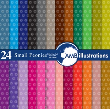 Digital Papers - Floral digital paper and backgrounds, Flowers, AMB-423