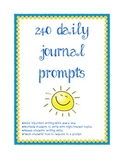 240 Daily Writing Prompts for Entire School Year