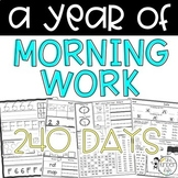 Morning Work BUNDLE Kindergarten or 1st Grade