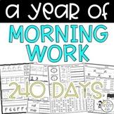 Kindergarten Morning Work YEAR LONG BUNDLE
