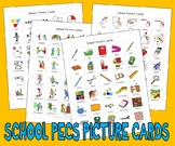 540 SCHOOL THEMED PECS PICTURE CARDS autism speech therapy visual education