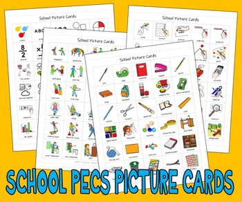 240 JUST THE BASICS PICTURE CARDS autism asd speech aba th
