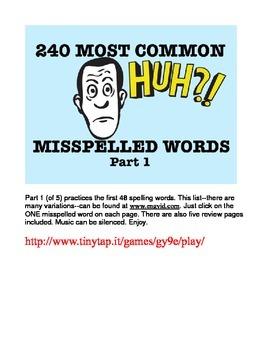 240 Most Common Misspelled Words APP Part 1