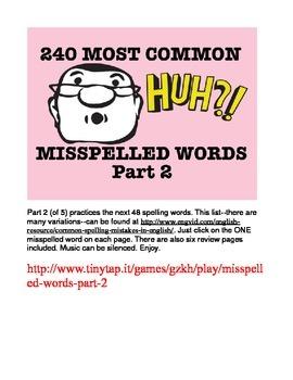 240 Most Common Misspelled Words APP Part 2