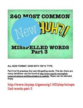 240 Most Common Misspelled Words APP Part 3