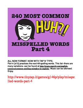 240 Most Common Misspelled Words APP Part 4