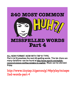 240 Most Common Misspelled Words APP Part 4