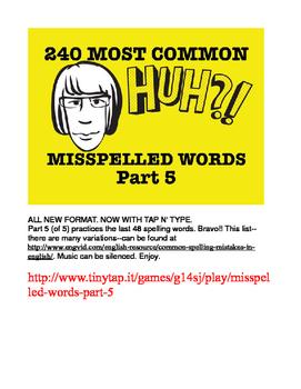 240 Most Common Misspelled Words APP Part 5