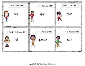 240 Task Cards - ELA - Antonyms Grades 3-5