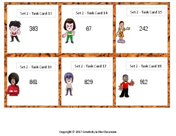 240 Task Cards - Rounding to the Nearest Ten