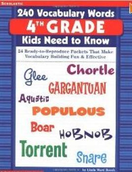 240 Vocabulary Words 4th Grade Kids Need to Know