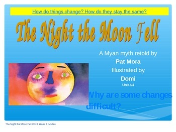 2.4.4, The Night the Moon Fell, Reading Street 2nd grade Power point smart board
