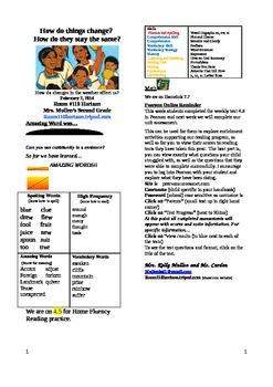 2.4.5 The First Tortilla Reading Street 2nd Grade Newsletter Unit 4 Week 5