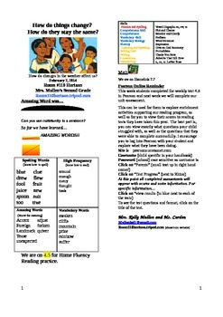 2.4.5 The First Tortilla Reading Street 2nd Grade Newslett