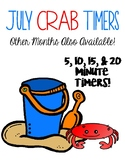 Crab Timers (5, 10, 15, & 20 minutes) Perfect for July!