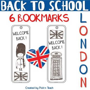 """Welcome back ! BOOKMARKS - """"London"""" - Back to school"""