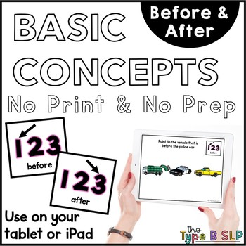 24HR SALE No Print Basic Concepts: Before/After with Task Box Cards