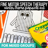 Winter Speech Therapy: Popsicle Stick Fine Motor Art for All Sounds