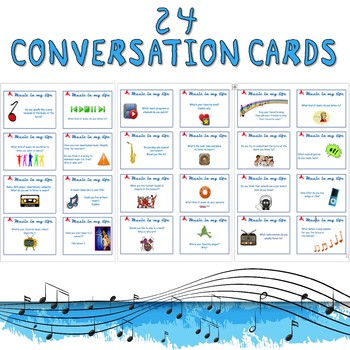 June 4 - Music in my life - Conversation / task cards