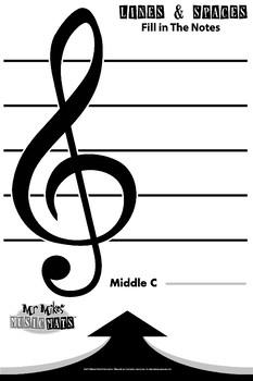 24x36 Verticle Treble Clef / MrMikesMusicMats
