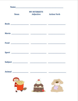 Fall review ELA Activities Nouns Verbs Printables! Centers