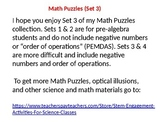 25 Advanced Math Puzzles (set 3)