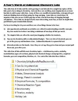 25 Ancillary Chemistry Lab Bundle