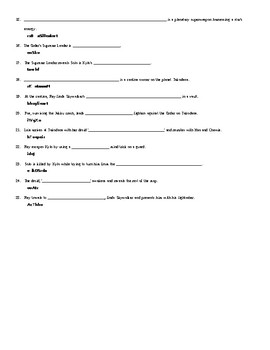 25 Answer Star Wars The Force Awakens Letter Scramble Worksheet with Key
