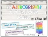 25 Astrobright Labels - 10 Drawer Cart