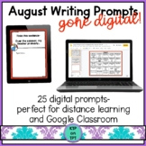 25 August Writing Prompts Gone Digital!