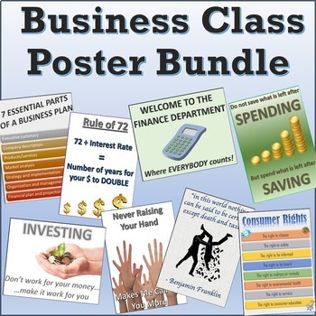 25 Awesome Funny Useful Business Education Classroom Posters Signs Bundle