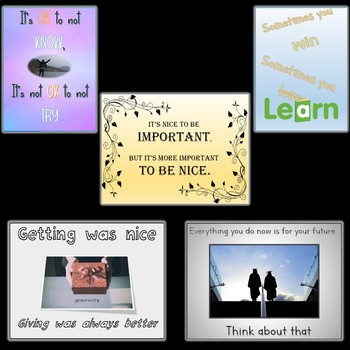 25 Awesome Guidance Education Classroom Posters Signs Bundle