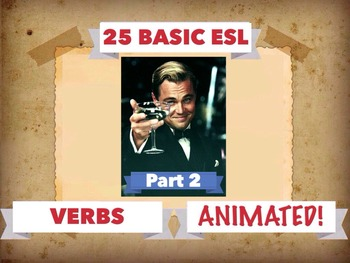 125 BASIC ENGLISH VERBS, ANIMATED!  APP
