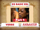 125 BASIC ENGLISH VERBS, ANIMATED!  APP