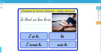 25 BOOM cards multiple choice French passé composé être avoir set 1