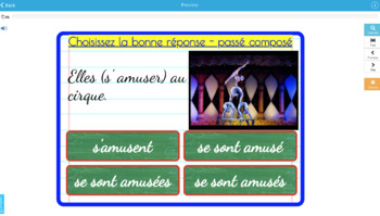 25 BOOM cards multiple choice French passé composé être avoir set 2