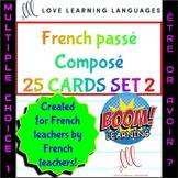 25 BOOM cards multiple choice French passé composé être av