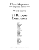 25 Baroque Composers Word Search