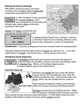 25 - Beginnings of the Cold War - Scaffold/Guided Notes (Filled-In Only)