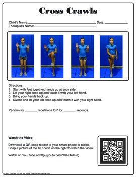 25+ Bilateral Coordination Exercises with QR Codes