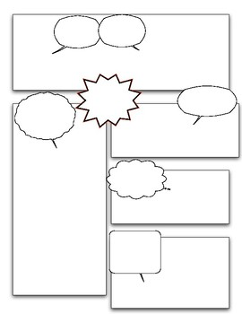 Blank Comic Strip Pack