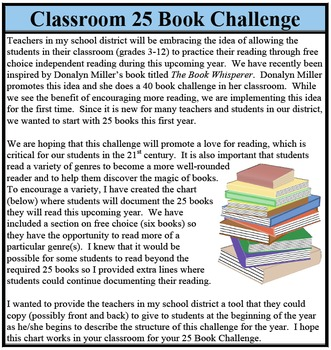 25 Book Reading Challenge