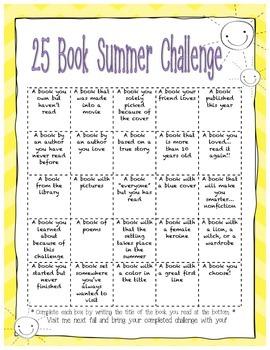 25 Book Summer Challenge