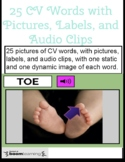 25 CV Words Boom Cards with Labels and Audio Clips - Dynamic Images