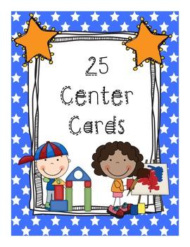 25 Center Cards (Star Border)