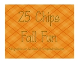 25 Chips Fall Fun Math Game