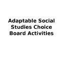 25 Social Studies Choice Board Activities