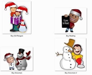 25 Christmas Clipart Figures and Holiday Season Frames